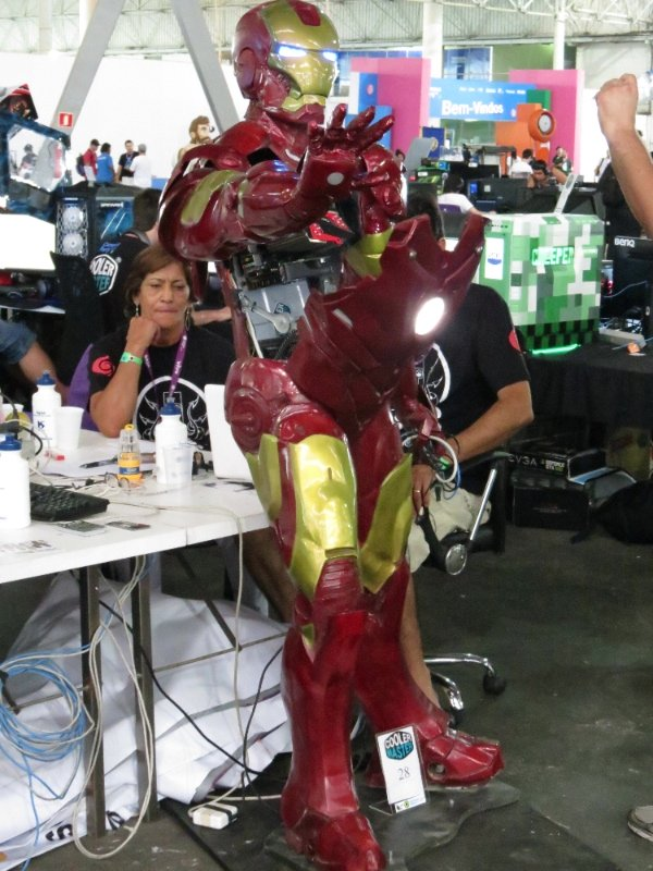 Casemod Iron Man ou Homem de ferro - Campus Party 2013