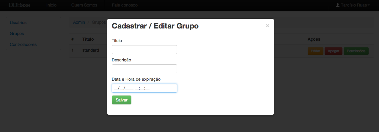 Twitter Boostrap - Exemplo de modal